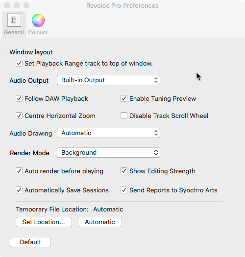 Setting audio output options