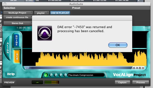 dae error 7450 faq synchro artsDae Error 7401 Pro Tools #9